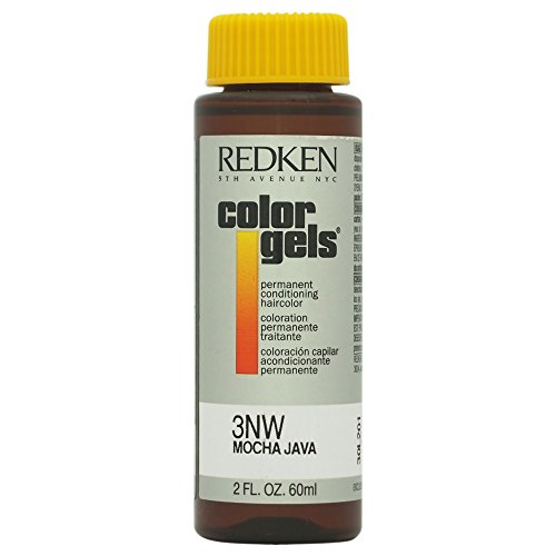 Redken Color Gels Permanent Conditioning Hair Color for Unisex 3NW Mocha Java 2 Ounce