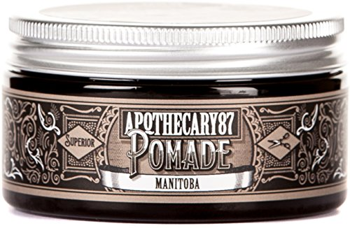 Apothecary 87 MANitoba Hair Styling Pomade Strong Controllable Hold Maple Scent 34 Oz