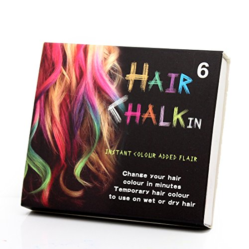 Medius Temporary 6 Colors Hair Chalk Color Dye Pastels Salon Kit Tools