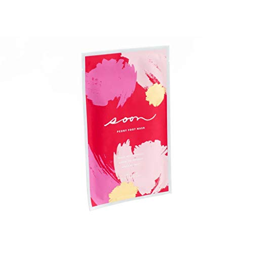 Soon Skincare Peony Foot Mask  Luxury Korean Skincare Treatment Single