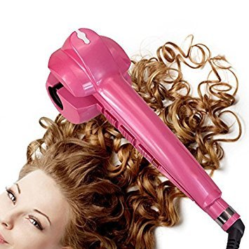 Salon Collection Automatic Steam Curlers Harmless to Hair Ceramic Electric Hair Curler Machine Rose Red