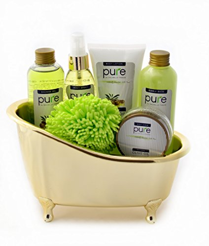 Pure Deluxe Spa Gift Basket- Hydrating Olive Oil Skin Therapy Kit Luxury Gift - Wrapped And Ready to Deliver Results