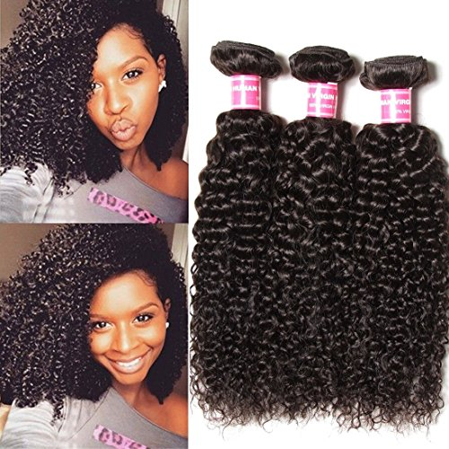 Longqi Beauty Peruvian Curly Weave Hair 3 Bundles Peruvian Hair Curly Remy Hair 3pcs Set 100 Virgin Unprocessed Human Hair Extensions Natural Color 14 16 18inch