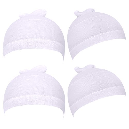 eBoot Nylon Wig Caps 4 Pieces White