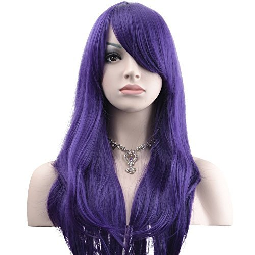 YOPO 28 Wig Long Big Wavy Hair Women Cosplay Party Costume WigPurple