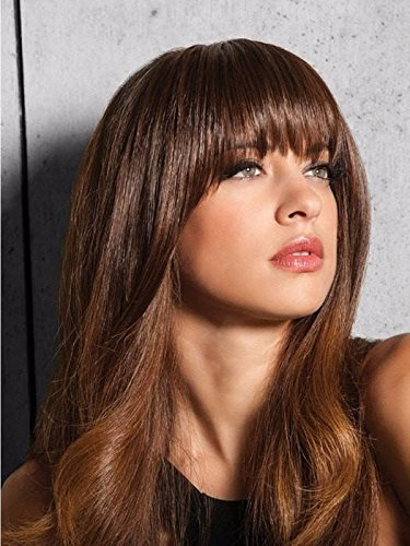 Clip in Bangs  Color R1425 HONEY GINGER - Hairdo Extensions 95 Length Heat Friendly Synthetic Hairpiece Add Bang Fringe