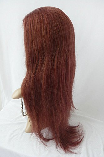 Sina Beauty New 16 inch Straight Human Hair Lace Wig 33 Peruvian Straight Front Lace Wig 130 Density Virgin Human Hair Lace Front Wigs