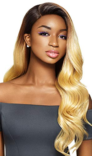 OUTRE HUMAN HAIR BLEND LACE FRONT WIG PLAY 13X4 LACE FRONTAL WIG DASHA - 1B