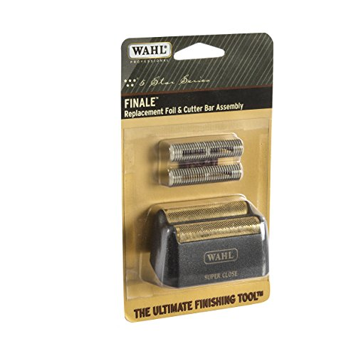 Wahl Professional 5-Star Series Finale Replacement Foil and Cutter Bar Assembly 7043 - Hypo-Allergenic For Super Close Bump Free Shaving - Black