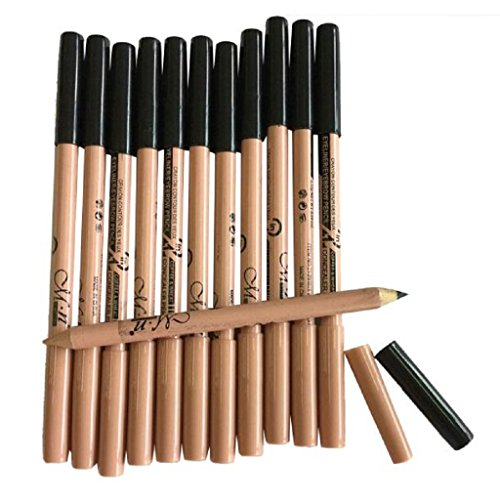 KESEE 12pc Multifunctional Black Eyeliner Eyebrow Pencil  Concealer Pencil