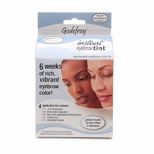 Godefroy Instant Eyebrow Tint Permanent Eyebrow Color Kit Light Brown