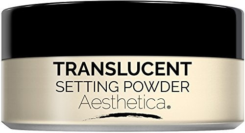 Aesthetica Translucent Loose Setting Powder - Talc Free Finishing Powder for a Flawless Matte Finish - Flash Friendly - Includes Luxurious Velour Puff for Flawless Application