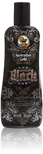 Australian Gold Sinfully Black 15x Deep Dark Bronzing Tanning Lotion 85 Ounce