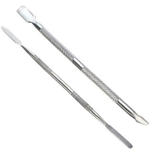 Nail Pusher-TOOGOOR 2 Type Push Pull Cuticle Nail Pusher Manicure Pedicure Care Nail Art Silver