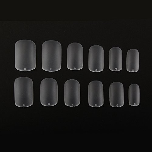 MAKARTTÂ 504Pcs Super Thin Nails Tips 012mm Clear Full Cover Acrylic Gel Nails Art Tips 10 Sizes for Nail Salons and DIY Nail Art at home