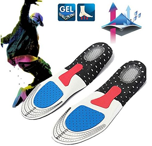 For  Women 1 Pair Free Size Unisex Gel Orthotic Sport Shoe Pad Arch Support Insoles Insert Cushion by STCorps7