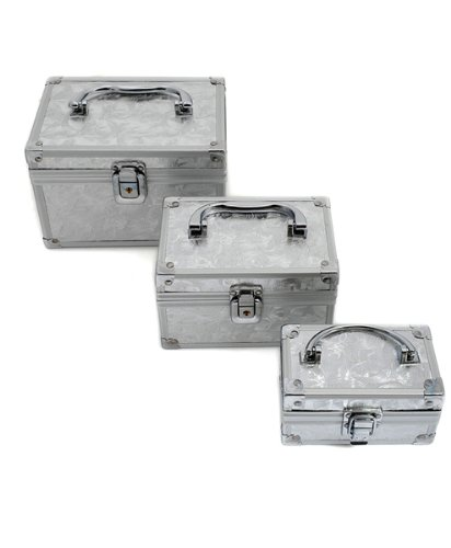 BG Silver Cosmetic Case SET FOR ALL 3