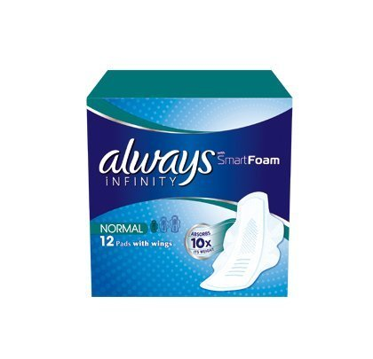 Always Infinity Normal Sanitary Towels with Wings 12 per pack Case of 5 by Always