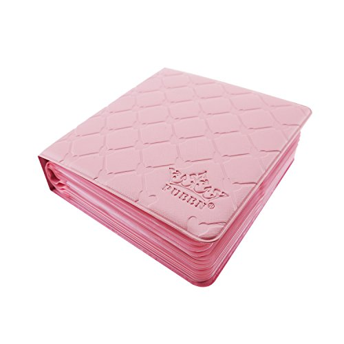 Pueen 40 Slots Nail Art Stamping Plates Holder Case