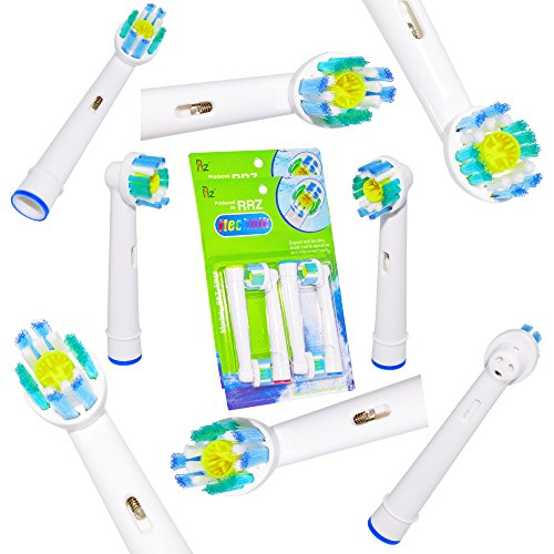 Premium Oral-B Floss Action Generic Replacement Toothbrush Heads by RRZ  8 pcs 2 pack