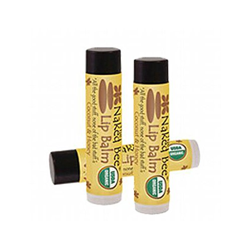 The Naked Bee Lip Balm 015 Oz 3 Pack spf 15 coconut