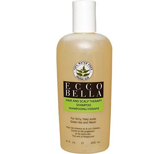 Ecco Bella Hair and Scalp Therapy Shampoo Green Tea and Neem 8 fl oz 200 ml - 2pc