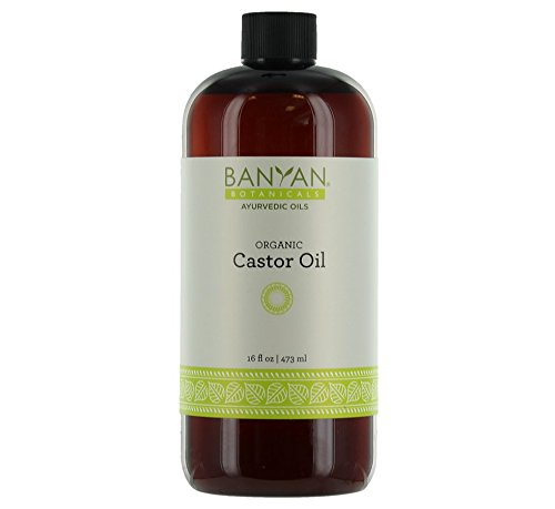 Banyan Botanicals Castor Oil Certified Organic 16 oz - Pure Expeller Pressed and Filtered