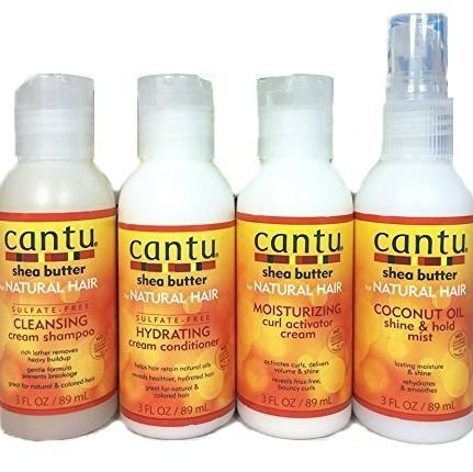 Cantu Shea Butter Natural Hair Curl Care 4-Piece Kit Pack of 2